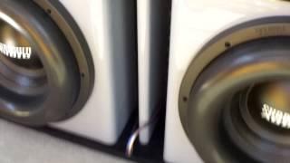 hifonics hfi12d4 12 subwoofers video videos de hifonics. Black Bedroom Furniture Sets. Home Design Ideas