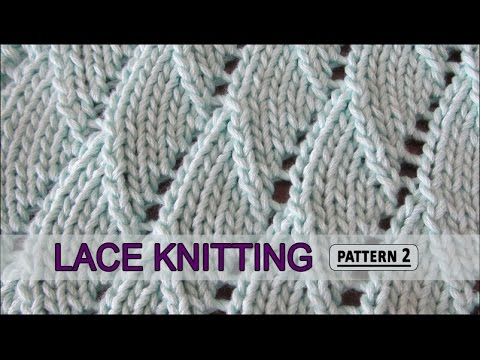 Overlapping Waves | Lace Knitting Pattern #2