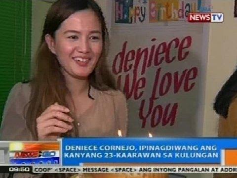 NTG: Deniece Cornejo, ipinagdiwang ang kanyang ika-23 kaarawan sa loob ng kulungan