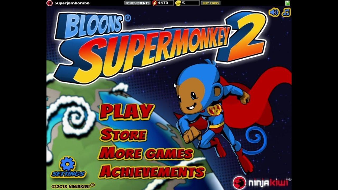 Games Arcade Play Bloons Super Monkey.