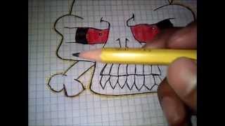 Videotutorial De Como Hacer Una Calavera (Graffiti)