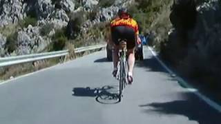 Descending Sa Calobra Mallorca by Bicycle