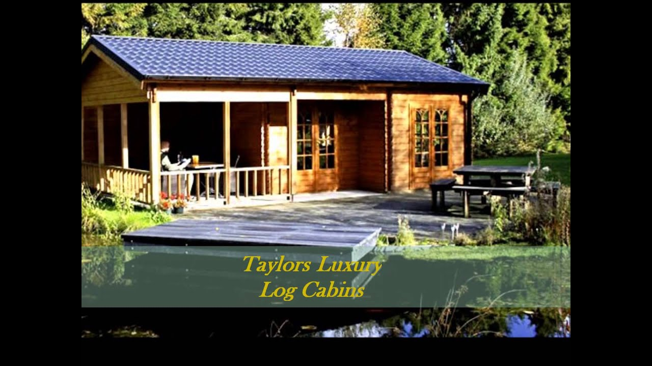 Taylors garden buildings luxury log cabins youtube for Luxury garden sheds
