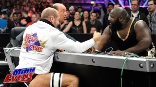 Mark Henry Vs. Cesaro Arm Wrestling Match: WWE Main