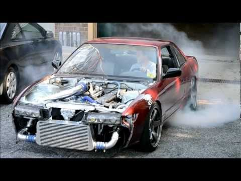 First Drive Turbo s13 240sx chevy v8 , 6lbs of boost untuned