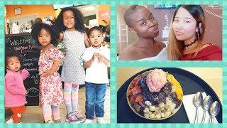 BLASIAN FAMILY REUNION w/ MAZELEE | BINGSU 팥빙수 MUKBANG + RAISING BILINGUAL KIDS 이중언어 Denver Vlog #3