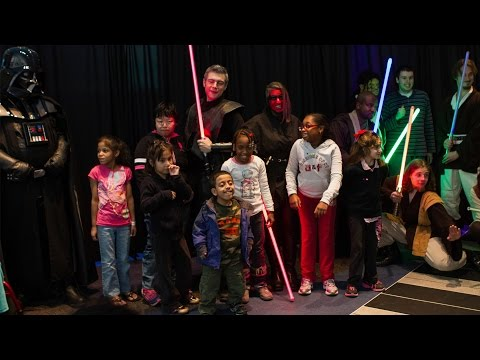 St. Mary's Children's Hospital Star Wars lightsaber show by Empire Saber Guild