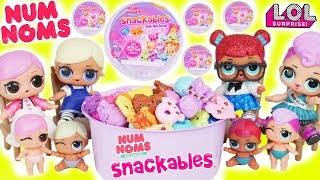 Num Noms Snackables Cereal Series 1 + L.O.L. Surprise! Dolls New Baby Babysit Lil Sisters Unboxed!