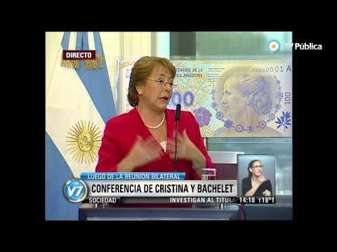 Visión 7 - Conferencia conjunta de Cristina y Michelle Bachelet