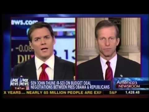 Thune on America's Newsroom on Fiscal Cliff