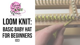 How To Loom Knit A Hat Beginner (baby Beanie)