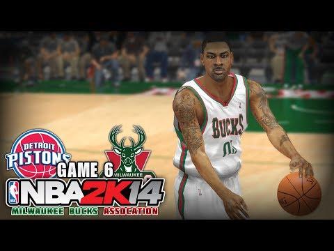 NBA 2K14 Milwaukee Bucks Association | Game 6 - vs Detroit Pistons