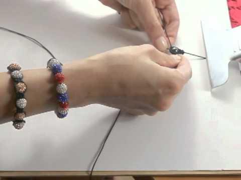 Kurs - jak zrobić bransoletkę shamballa part-1(How to Make A Shamballa Bracelet)