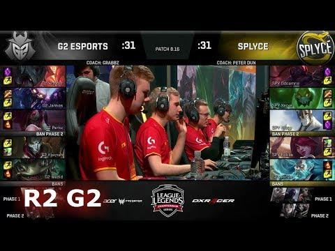 G2 eSports vs Splyce - Game 2   Round 2 EU Regional Qualifier for S8 Worlds 2018   G2 vs SPY G-2