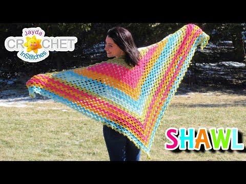 Splendid Springtime Shawl - Crochet Pattern