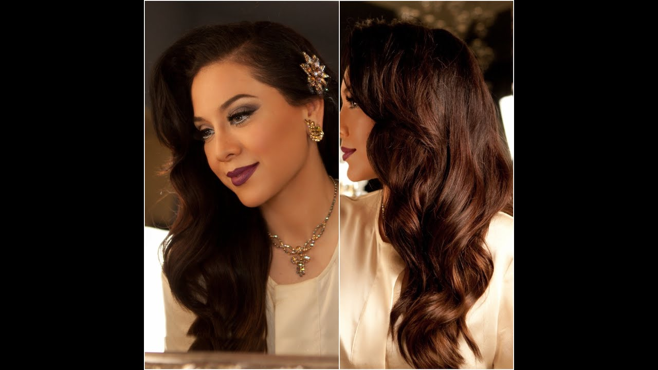 Hairstyles For Long Hair Glamour : 1940s Inspired Hair Tutorial - Old Hollywood Glamour - Vegas_nay ...