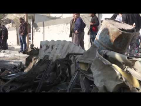 Raw: Car Bomb Kills Four in Baghdad
