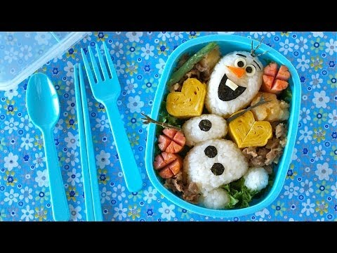 How to Make Olaf Bento Lunch Box (FROZEN Disney Recipe)