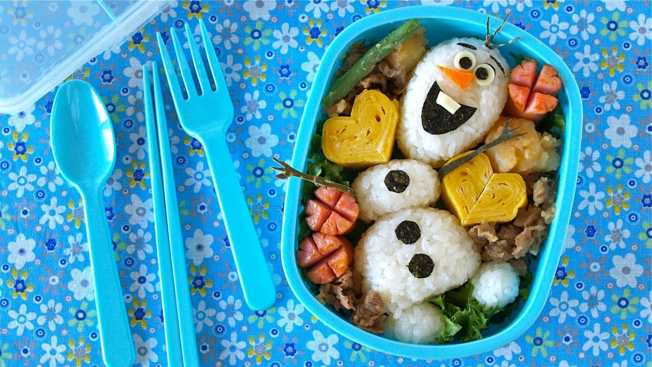 olaf bento lunch box disney frozen do you wanna build a. Black Bedroom Furniture Sets. Home Design Ideas