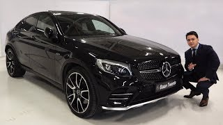2018 Mercedes AMG GLC Coupe 4MATIC - FULL Review GLC43 Start Up Drive Interior Exterior