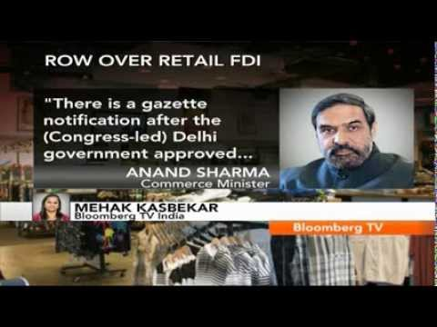 Newsroom- AAP's Retail FDI Decision Irresponsible: Anand Sharma