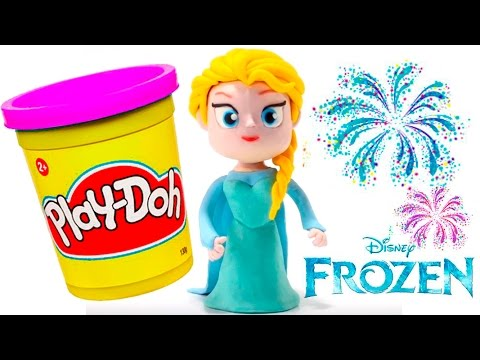 FROZEN STOP MOTION Play Doh Clay Animated Video Elsa Disney Frozen Videos + Toy Videos