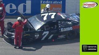 Jones' No. 77 Toyota scrapes the Richmond red walls. Гонки Наскар. Смотреть видео Nascar