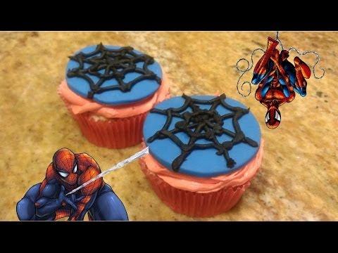 The Amazing Spiderman 2 part 1: Spidey Web Cupcakes