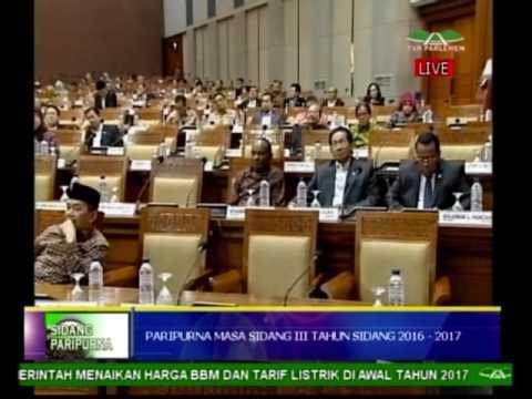 DPR RI - RAPAT PARIPURNA 10 JANUARI 2017 MASA SIDANG III