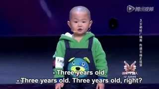 """random dance"" by a 3 year-old boy with eng subtitles"