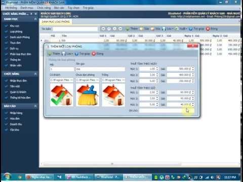 Phần mềm quản lý nhà nghỉ khách sạn resort - Hướng dẫn sử dụng
