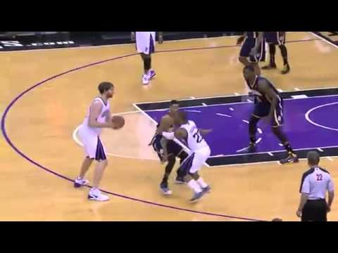 Paul George Slams it Down   Pacers vs Kings   January 24 , 2014   NBA 2013 14 Season