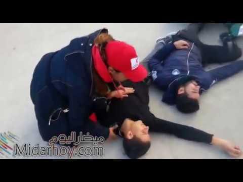 تمثيل لحادثة سير الوقاية المدنية والهلال الأحمر بميضار