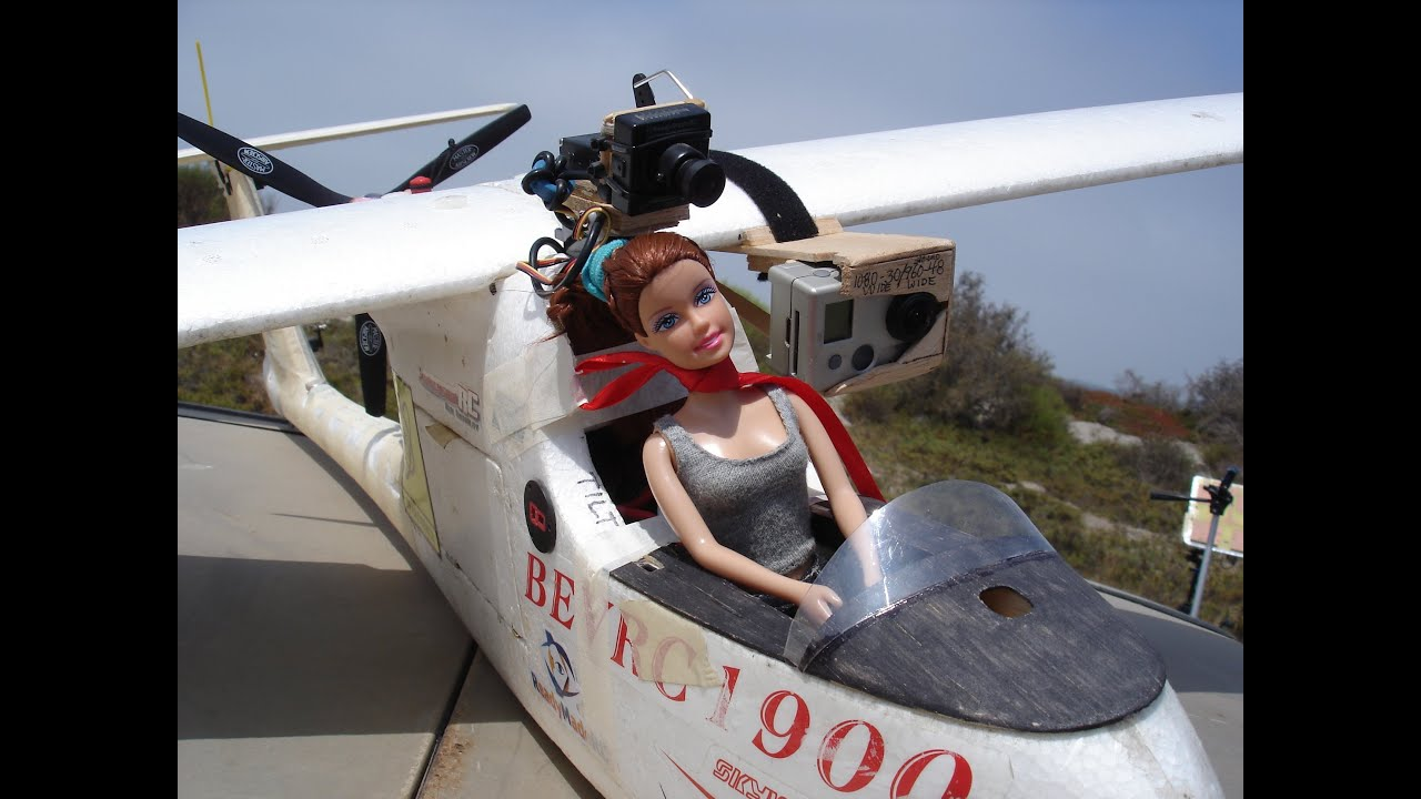 A Little Girls Dream Barbie Doll Flies Rc Plane Youtube