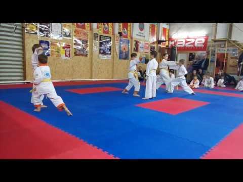 Аттестационный экзамен 24.12.2016 г. по каратэ в клубе Тигренок ч. 2