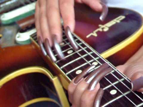 Natural Nails 18 Playing My Guitar - YouTube