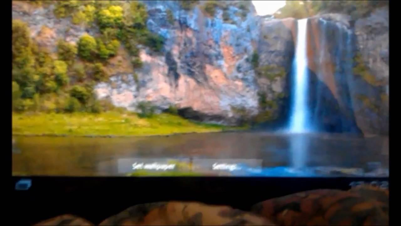 honeycomb tablet live wallpaper interactive waterfalls 2