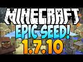 Minecraft 1.7.10 Seeds: EPIC SEED! - Village, Temple, Ravine With 14 Diamonds At Spawn (1.7.9 Seeds)