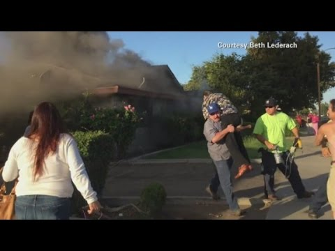 Mystery hero saves man from fire in home