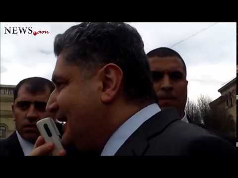 Armenian fired PM speaks to protesters - Apr 9, 2014