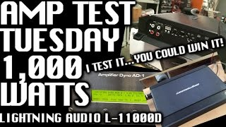 Amp Test Tuesday: Lightning Audio L-11000D Rated 1,000
