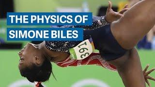Simone Biles gravity-defying physics