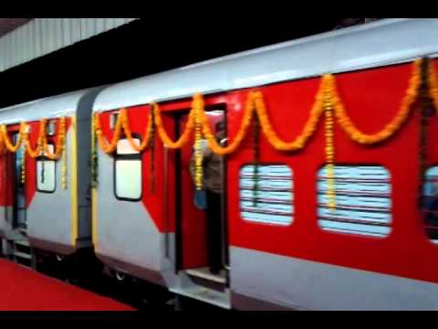 Train ~Jaipur Jodhpur LHB intercity ~ Inaugration 2014 ~ Maintanined & Decorated ~C&W Jaipur