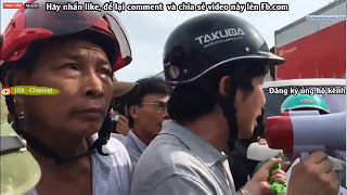Cận cảnh hàng ngàn ngư dân áp giải 3 tên côn đồ lên CA huyện Diễn Châu [108Tv]