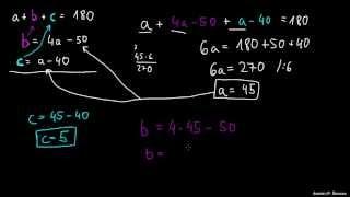 Tri enačbe – tri neznanke
