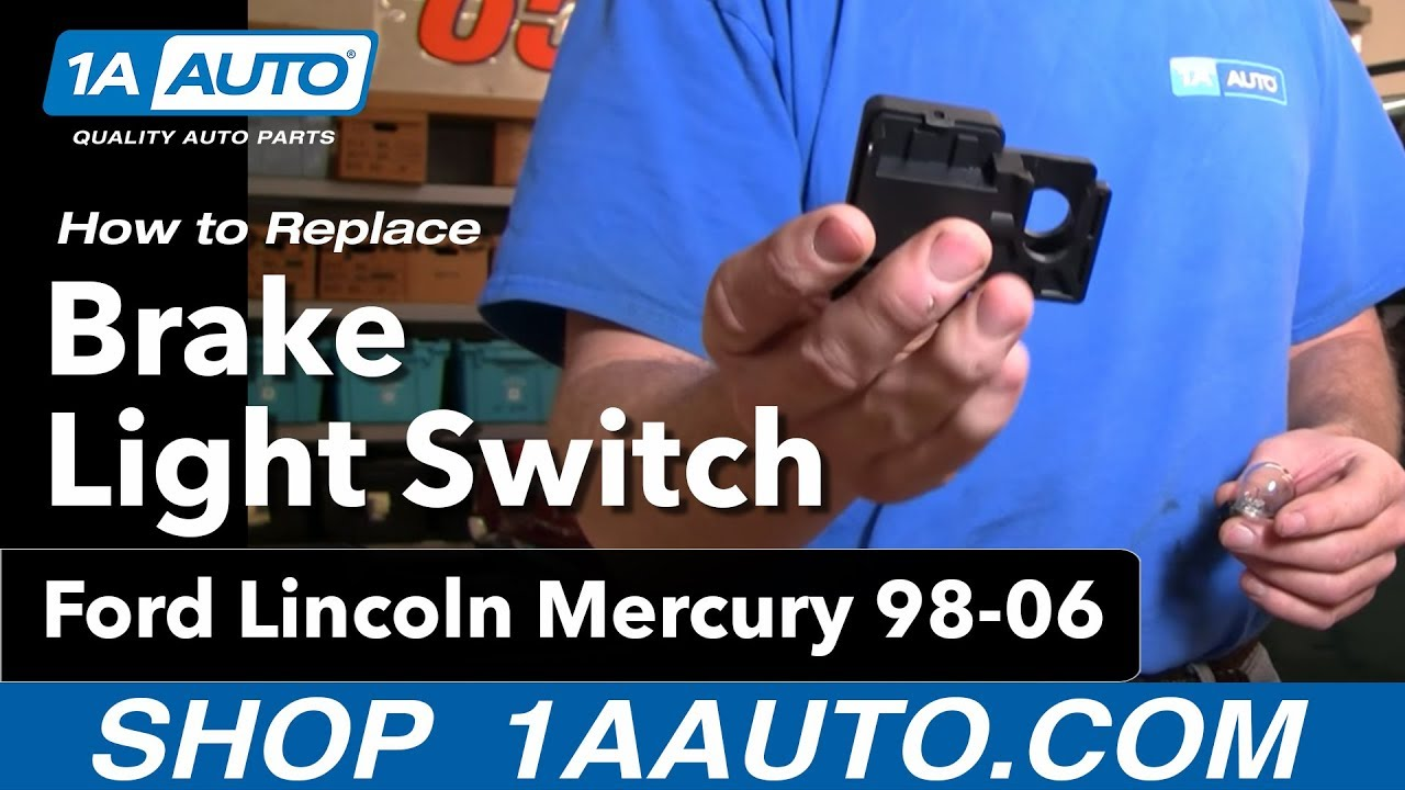 How to install replace brake light switch ford lincoln mercury 98 06