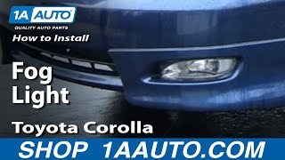 How To Install Replace A Fog Light Toyota Corolla 03-08