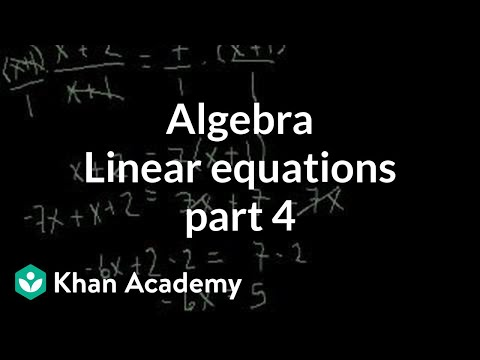 Linear Equations 4