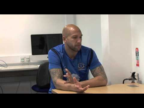 Everton's Tim Howard (formerly with Manchester United) on 