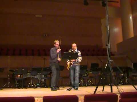 WOW! Pedrosaxo DUO piece: Arno Bornkamp and Pedrosaxo.